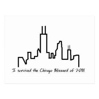 Chicago Blizzard Postcard