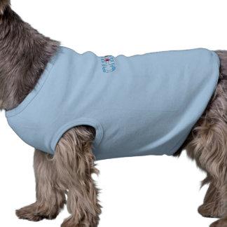 Chicago Blues, Chicago Flag Design Sleeveless Dog Shirt