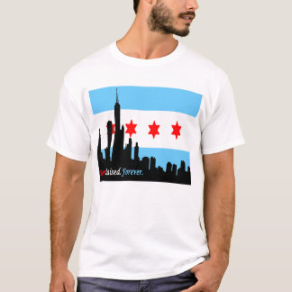 Chicago: Born and Raised Forever Skyline T-Shirt