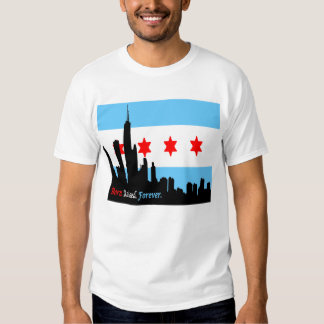 Chicago: Born and Raised Forever Skyline Tee Shirt