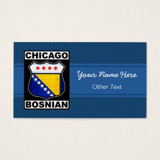 Chicago Bosnian American Business Cards