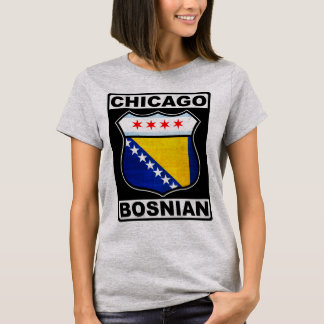 Chicago Bosnian American Design T-Shirt