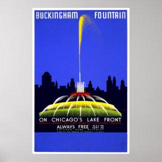 Chicago: Buckingham Fountain Poster