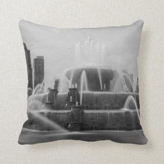 Chicago Buckingham Grayscale Cushion