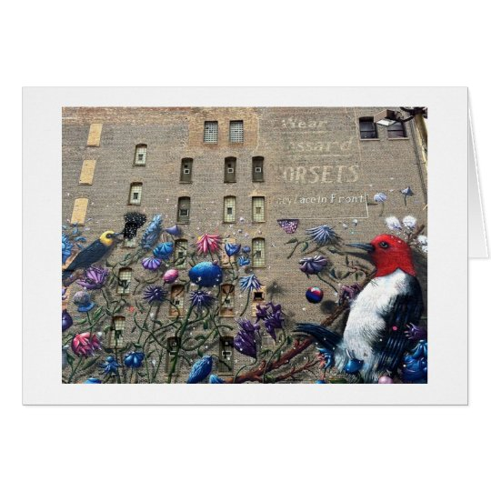 Chicago Building Art Graffiti Travel Note Card