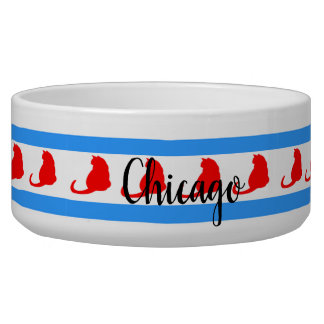 """Chicago Cat"" Pet Bowl"