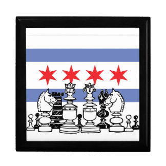 Chicago Chess Large Square Gift Box