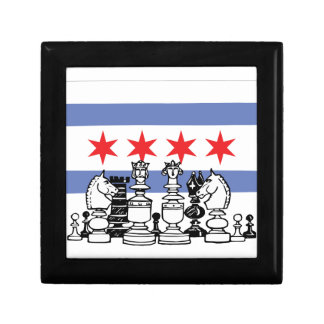 Chicago Chess Small Square Gift Box