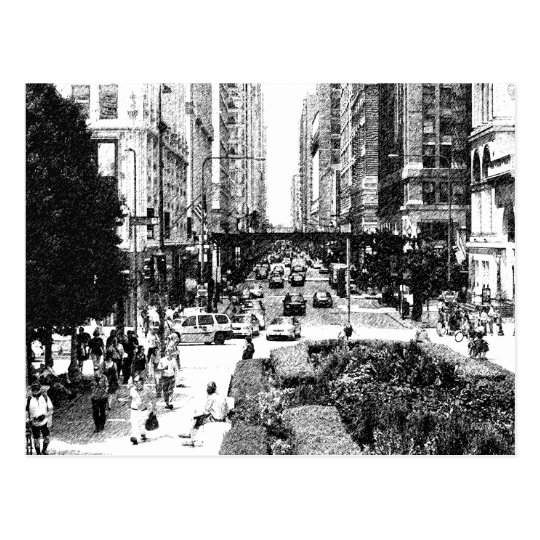 Chicago, Chicago - in Black and White Postcard