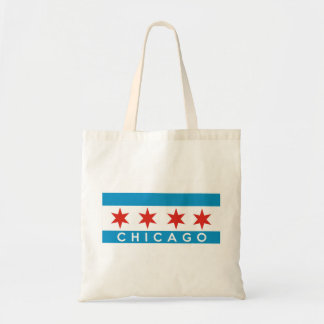chicago city flag america text name tote bag
