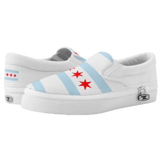 Chicago city flag slip on shoes