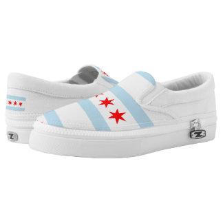 Chicago city flag slip on shoes