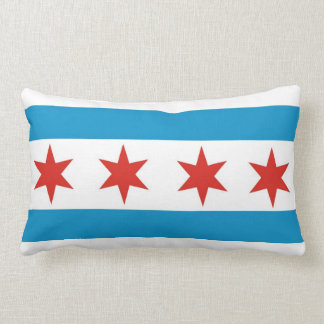 chicago city flag united states america pillow