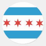 chicago city flag usa america round sticker