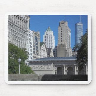 Chicago city scene mousepads