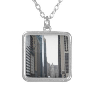 CHICAGO CITY SILVER PLATED NECKLACE
