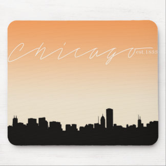 Chicago Cityscape- Abstract Skyline Mousepad