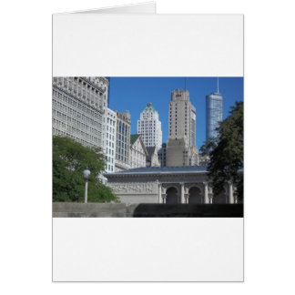 Chicago cityscape card