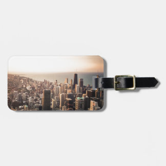 Chicago cityscape luggage tag
