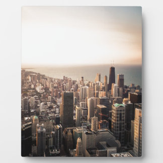 Chicago cityscape plaque