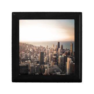 Chicago cityscape small square gift box