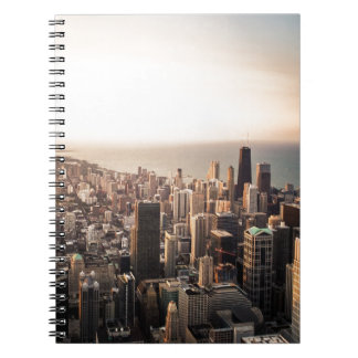 Chicago cityscape spiral notebooks