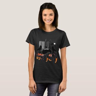 Chicago Cityscape Windy City Womens Tee Shirt
