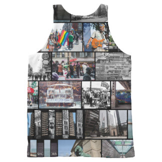 Chicago Collage All-Over Print Singlet