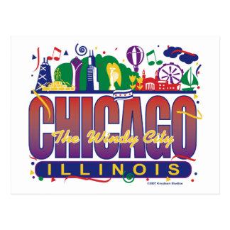 Chicago-Confetti Postcard