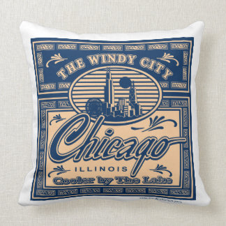 Chicago Cooler by the Lake Throw Pillow