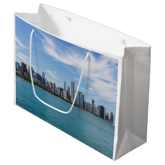 Chicago Day Cityscape Large Gift Bag