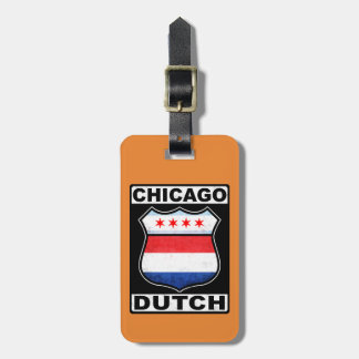 Chicago Dutch American Luggage Tag Template