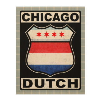 Chicago Dutch American Wood Print