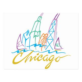 CHICAGO-EMB POSTCARD