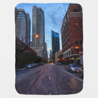 Chicago Evening Drive Baby Blanket