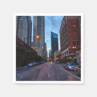 Chicago Evening Drive Paper Napkin