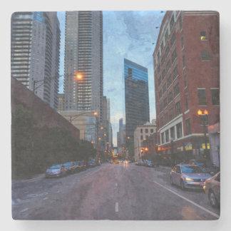 Chicago Evening Drive Stone Coaster