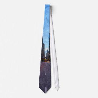 Chicago Evening Drive Tie