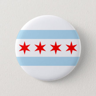 Chicago Flag 6 Cm Round Badge