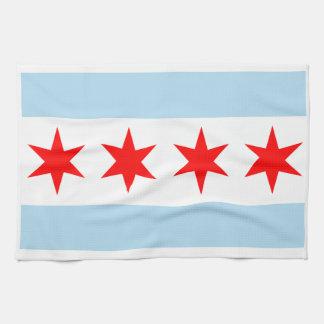 Chicago Flag American MoJo Kitchen Towel