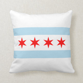 Chicago Flag American MoJo Pillow