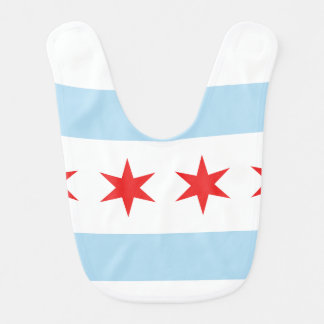 Chicago Flag Baby Bib
