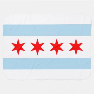 Chicago Flag Baby Blanket