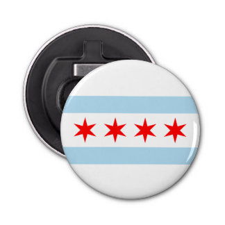 Chicago Flag Bottle Opener