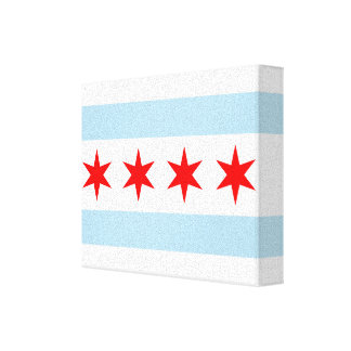 Chicago Flag Canvas Art