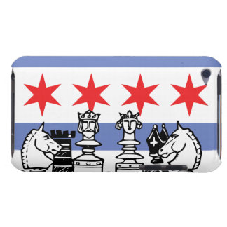 Chicago Flag Chess Barely There iPod Covers