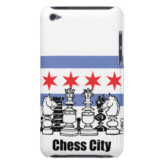 Chicago Flag & Chess Board Barely There iPod Cover