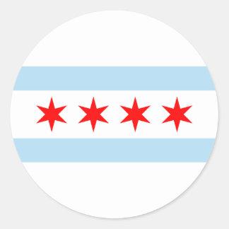 Chicago Flag Classic Round Sticker