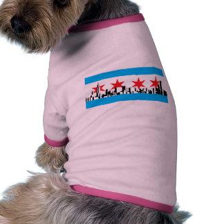 Chicago Flag Pet Tee Shirt