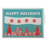Chicago Flag Holiday Card